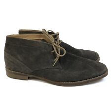 Calvin Klein Mens 13 Wilson Chukka Boots Dark Charcoal Suede Grey Lace Up $178