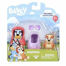 Bluey & Bingo Grannis Moose 2 Pack Action Figure New