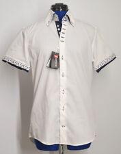 7CAMICIE Popeline Bianco Camicia Uomo 7 Bottoni Monica Shirt -Men's 40