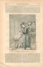 Costume  Décoration Intérieur Grand Seigneur Moyen Âge Page Venerie GRAVURE 1849