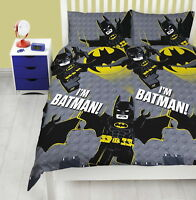 LEGO BATMAN MOVIE SIGNAL DC COMICS DOUBLE DUVET SET QUILT COVER KID BEDROOM