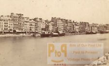 France old CDV Photo 1880 Le Havre Harbour Animated
