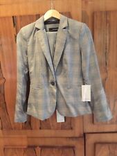 Zara Grey Check Blazer And Trousers Tailored Suit, Size 8-BNWT