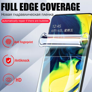 For Samsung Galaxy Note 10+ S10 S9 HD Clear Full Coverage Soft Screen Protector