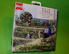 BUSCH HO 1200 HO SCALE Grape vines & baseplates. 20 grape vines/grapes/leaves/