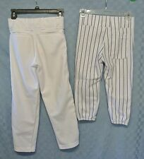 2 PAIRS Youth S (25-27)1- REEBOK & 1-TEAMWORK Baseball Pants w Elastic Cuffs