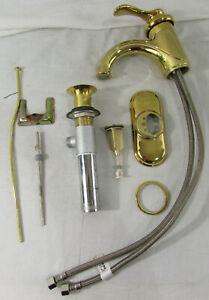 Kohler Fairfax Vibrant Polished Brass Centerset Bathroom Sink Faucet Incomplete