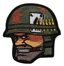 Hard Core Soldier Embroidered Iron On Patch - Biker Military Army Marines 047-X