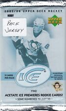 2005-06 UPPER DECK ICE HOBBY 1 PACK,GUARANTEED JERSEY,ROOKIE SYDNEY CROSBY???