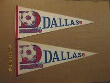 NASL Dallas Tornado Vintage Defunct Lot of 2 Logo Soccer Pennants