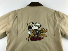 DIsney Store Mickey Pluto Outdoors Embroidered Barn Coat Jacket Small S Quilted