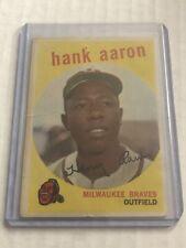 1959 Topps Hank Aaron #380