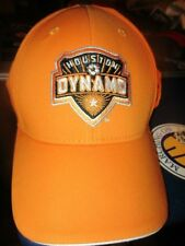 NWOT Orange HOUSTON DYNAMO Logo Adidas Flex Fit Hat Sm/Med MLS Soccer Football