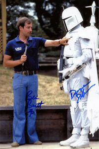 BEN BURTT DUWAYNE DUNHAM SIGNED 11x14 PHOTO BOBA FETT STAR WARS RARE BECKETT BAS