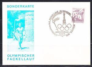 Austria 1972 post card Olympic torch relay cancel Sonderkarte