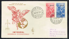 Italy-Trieste Scott#20-8 Interpol Set On Cachet First Day Cover