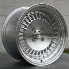 "15"" 15X8 SILVER WHEELS RIMS 4X100 +11MM CIVIC INTEGRA XA XB BMW E21 E30 MINI"
