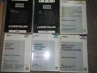 1991 PLYMOUTH LASER & EAGLE TALON Repair Service Shop Manual Set W LOTS OEM
