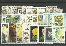"""Lot timbres thematique """"fleurs"""""""