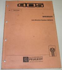 Werkstatthandbuch Peugeot 405 Dieselmotoren Bremsen Anti Blockier System BENDIX