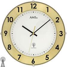 Ams 5947 Radio Orologio Parete da Analogico Ottone Colori con Aluminium-Ring