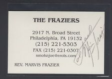 Reverand Marvis Frazier Signed Business card with Joe Frazier photo on back