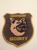 """Vtg Shepherd Security Sew On Embroidered Patch Guard German Dog 4"""""""