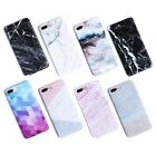 Art Glossy Granite Marble Soft TPU Phone Case Cover For iPhone X 7 6 6s 8 Plus