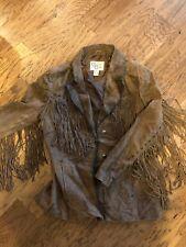 CRIPPLE CREEK Leather Fringe Leather Western Rodeo Jacket Coat XXL