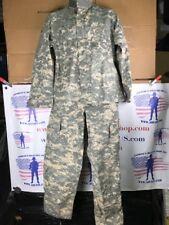 Army Combat Uniform Shirt and Pants Set, ACU Flame Resistant SMALL SHORT  EUC