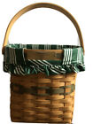 Longaberger Christmas Collection 1998 Edition Glad Tidings Basket Liner & Insert