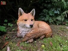 More details for resting fox figure. large size a. ultra realistic. garden or home. vivid arts