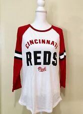 Victorias Secret Official MLB Cincinnati Reds 3/4 Raglan T Shirt MEDIUM NWT