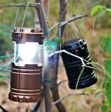 Outdoor Solar Power Lantern Rechargeable Night Light Hiking Camping Tent Lamp