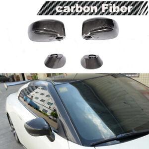 Mirror Covers Cap Replacement Fit for Nissan R35 GT-R GTR 2009-15 Carbon Fiber