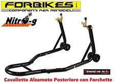 3000-V - Cavalletto Alzamoto Posteriore con Forchette FORBIKES per Moto TRIUMPH