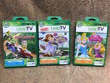 Leap Frog Tv Disney Lot Of 3 LeapTV, Kart Racing,Disney Princess,Sofia The First
