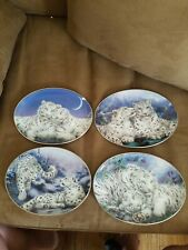 4 collector plates from Wild Hearts collection by Bradford Exchange 1997
