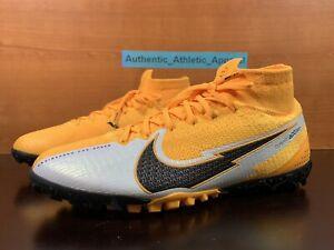 Nike Mercurial Superfly 7 Elite TF Turf Orange Mens Sz 6 / Wmns 7.5 AT7981-801