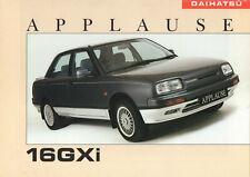 Daihatsu Applause 16GXi Brochure c1991