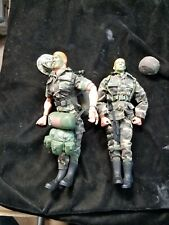 "2 Hasbro G.I. Joe Camo Camouflage Face 12"" Action Figures Loose"