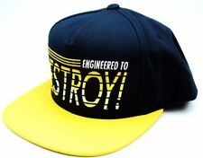 Mishka Clothing Co.Engineered to Destroy Snapback Cap Navy Blue & Yellow