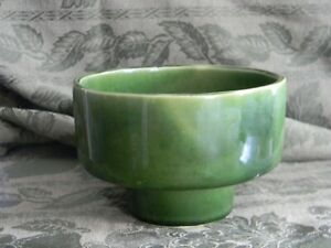 UPCO Ungemach Pottery USA Green Footed Planter