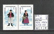 DDR 1964 Volkstrachten (I) WZd 145 (MiNr. 1074 - 1075) postfrisch KW 46,-€