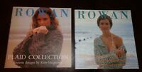 Lot of 2-Rowan Knit Pattern Books-Cotton Braid & Plaid Collection-New