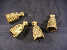 4  anciens pompons de rideaux, glands, cordon, embrasse, style second Empire