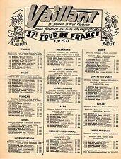 SUPPLEMENT JOURNAL VAILLANT LES ENGAGES DU TOUR DE FRANCE 1950 + JEU CONCOURS