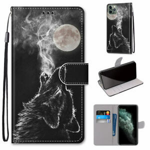 Howling Wolf Flip Antislip Wallet Stand Cool Hot 3D Case Cover For Various Phone