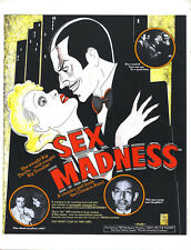 "Sex Madness Movie Poster Replica 13x19"" Photo Print"