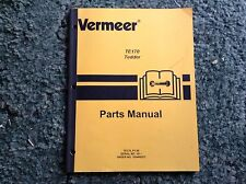 105400ZET - A New Parts Manual For A Vermeer TE170 Hay Tedder